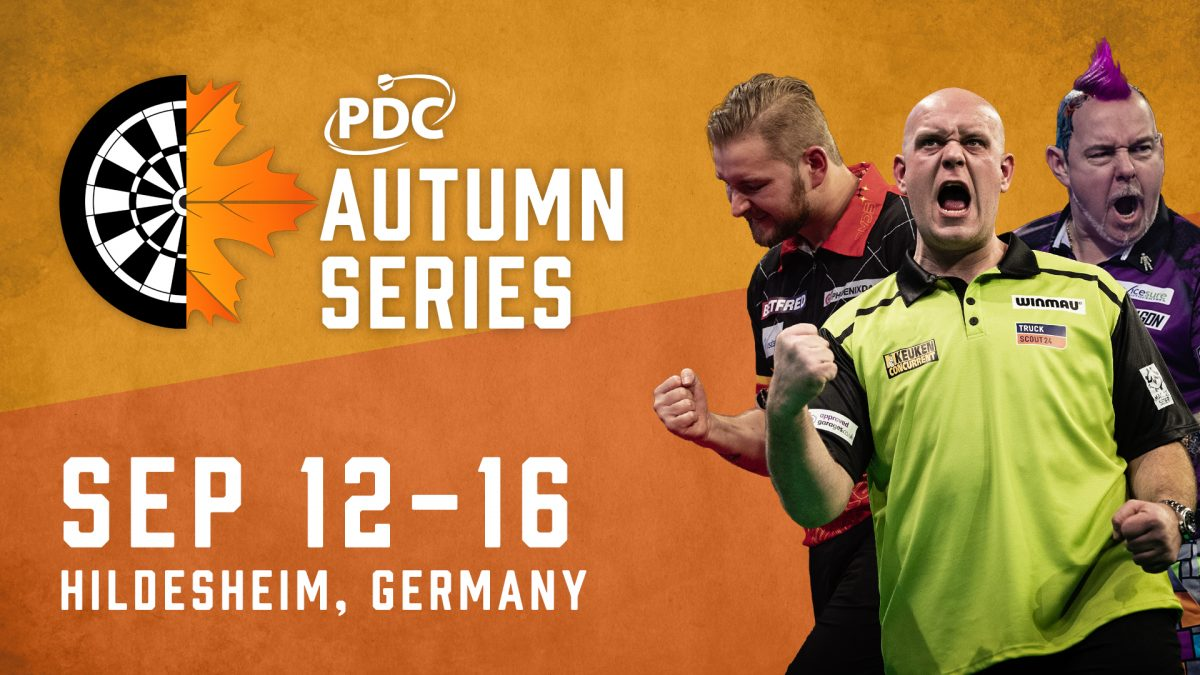 The PDC announce Autumn Series event – a series of FIVE 1-day tournaments which sees players compete for prize money.