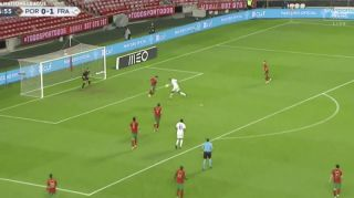 (Video) Paul Pogba misses sitter during last night's Nations League match against Portugal