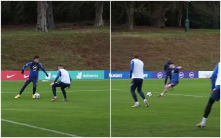 Video: These Chelsea fans react as 'agent' Ben Chilwell assists target Declan Rice in England training